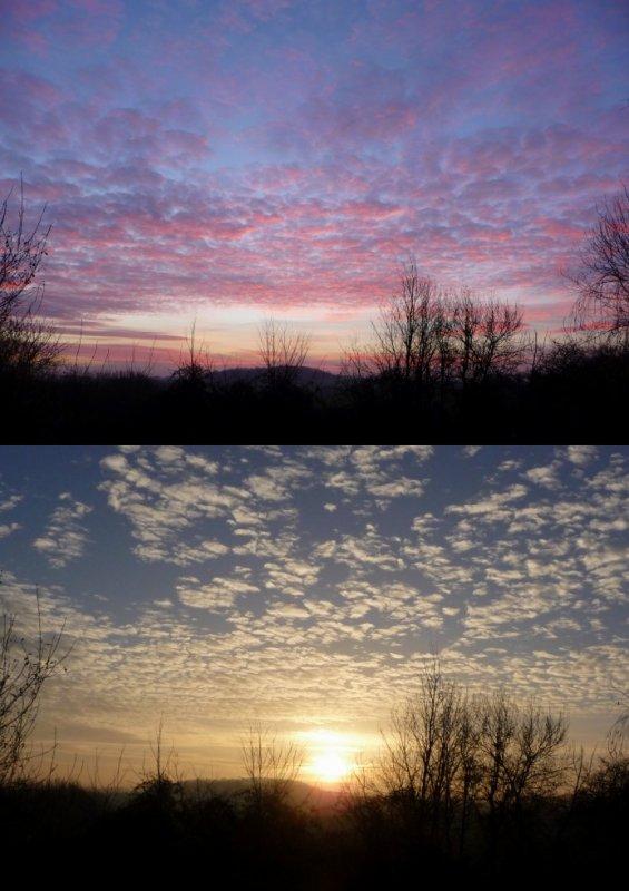 couleurs changeante ce matin du soleil levant