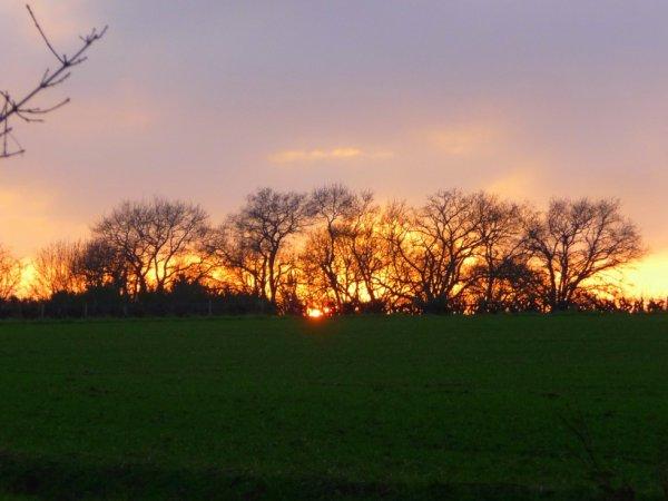le soleil a fait une petite apparition avant de se coucher