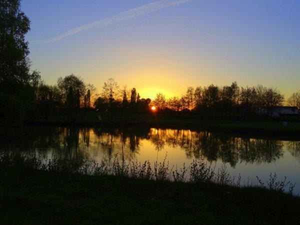balade à la barbotine dans le 49 au soleil couchant