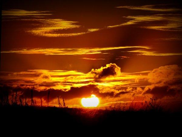 joli coucher de soleil ce soir , merci mère nature