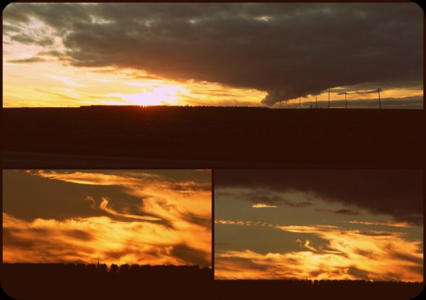 montage des photos de coucher de soleil de ce soir
