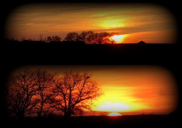 coucher de soleil d'hier soir