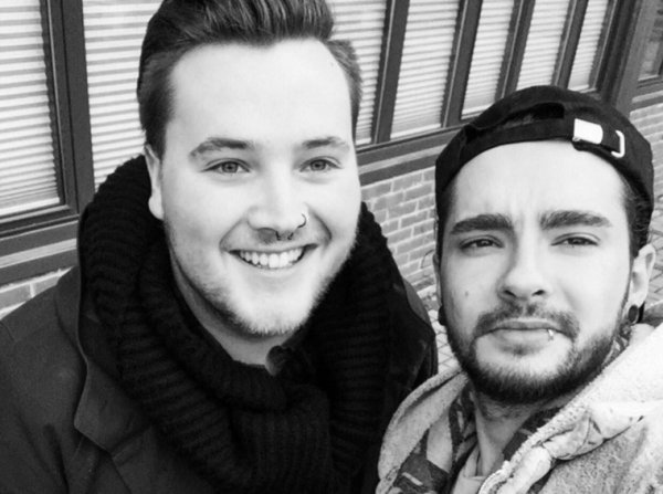 Photo-Tom avec un fan, Berlin le (26.02.2017)