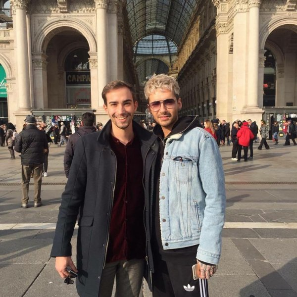 Photo-Bill avec un fan, Milan le (22.03.2017)