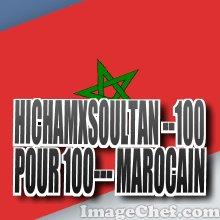 100-- pour -- 100 --marocain