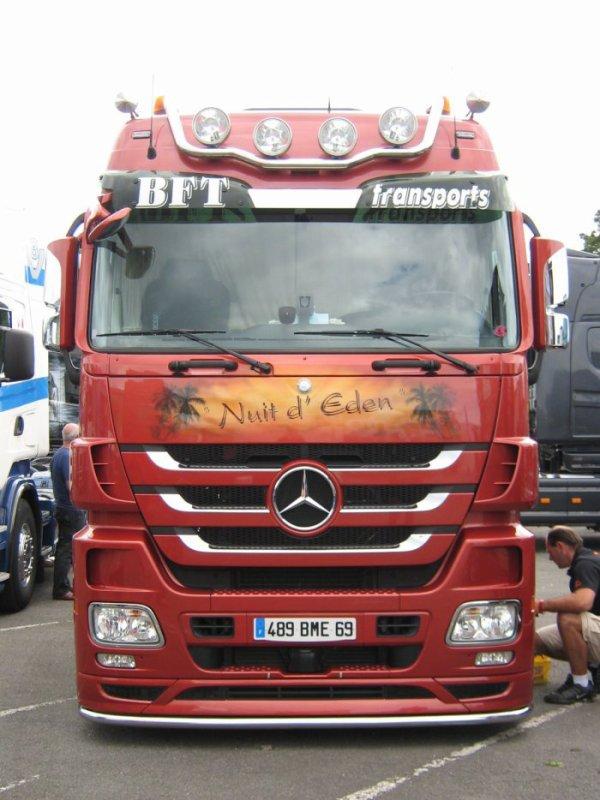 Magnifique Mercedes actros de chez BFT