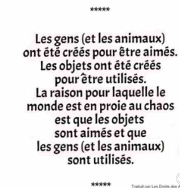 Les gens et les animaux...