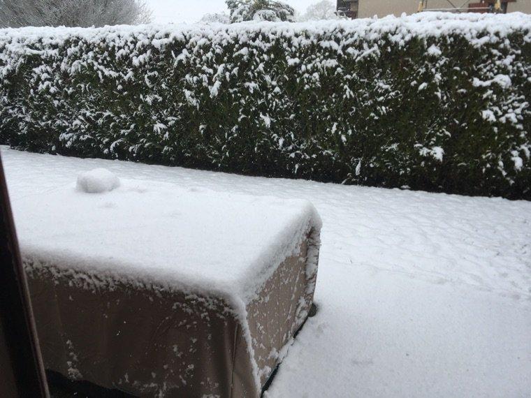 la neige en février XD