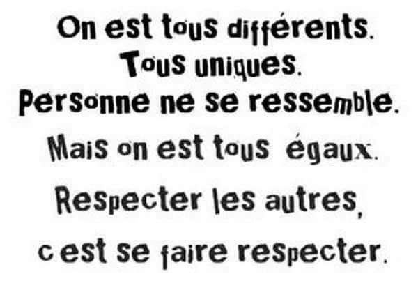 """""""On est tous différents"""""""