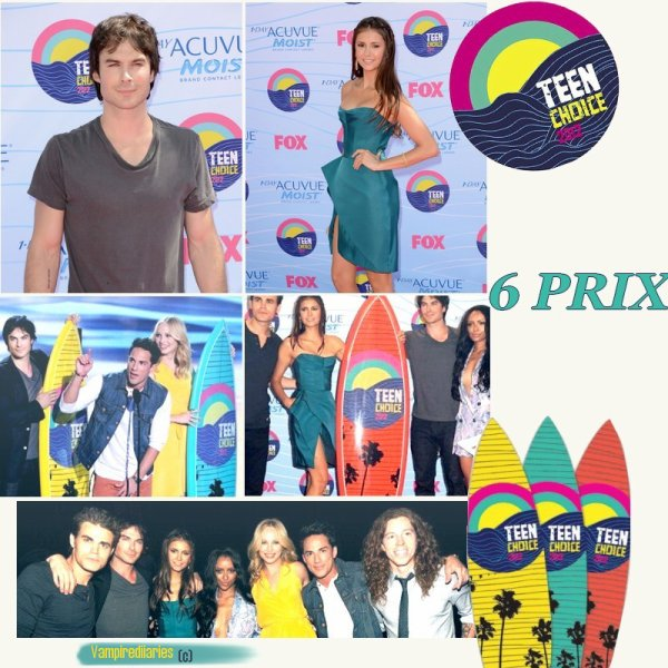 # ARTICLE 3 - Teen Choice Awards 2012 : Vampire Diaries remporte 6 prix