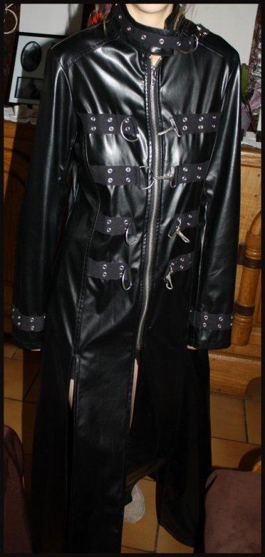 Manteau simili cuir
