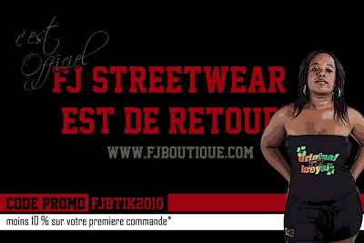 FJ STREETWEAR N°1 SUR LA MODE WEST INDIES