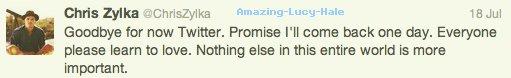 Le 23 juillet au soir, Chris Zylka & Lucy sont sortis en amoureux au BOA Steakhouse. Une bonne manière de faire taire les rumeurs de séparation du couple apparues après un tweet de son petit-ami: