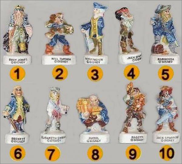 FEVES A L'ECHANGE : SERIE COMPLETE PIRATES DES CARAIBES (contre série ou 10 fèves)
