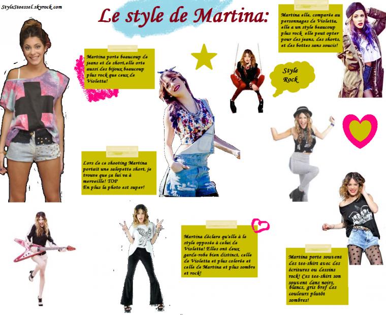 Le style de Martina VS. Le style de Violetta