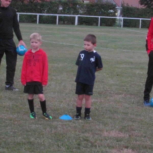 1er entrainement de foot et 1er but marqué sur une contre attaque ! J'ai adoré !