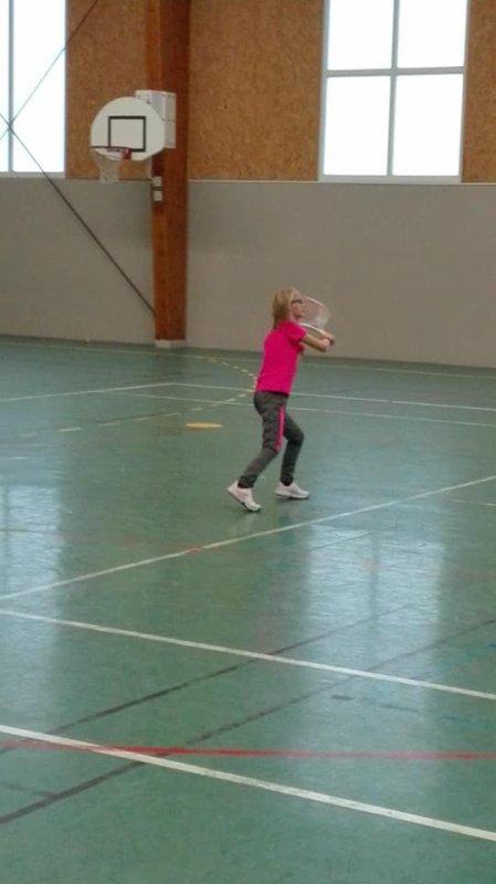 Après le foot de Jules...le tennis de Méline