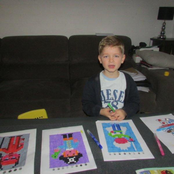 Jules et ses pixel'art !