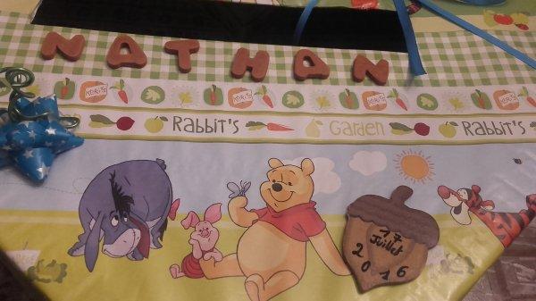Boite à Enveloppes pour Baptême sur le thème de Winnie l'ourson ..
