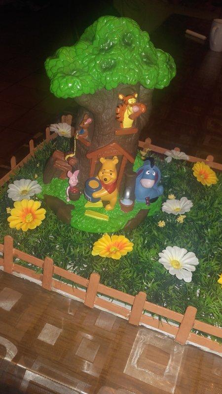 P'tit jardin de winnie l'ourson pour  les dragées de Baptême