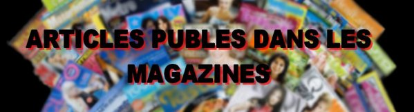 ARTICLES PUBLIES par Thierry Van de Leur, dans les magazines