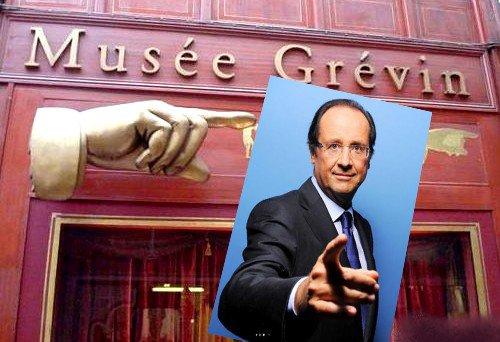 HOLLANDE AU MUSEE GREVIN