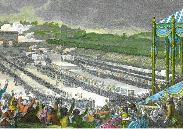 FETE DE LA FEDERATION - 14 juillet  1790