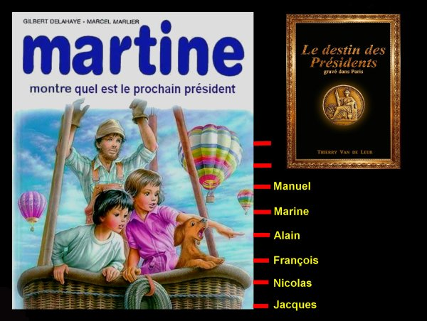 "MARTINE A LU ""LE DESTIN DES PRESIDENTS""....."