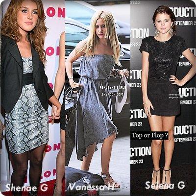 Shenae , Vanessa , Selena .