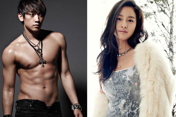 Rain en couple avec Kim Tae Hee