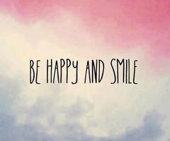 Sois heureux(se) et  souris