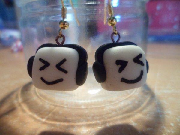 boucles d'oreilles kawaii