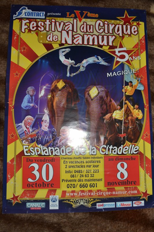Affiches Festival du Cirque de Namur Belgique