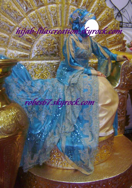 VOILE TURQUOISE DORE