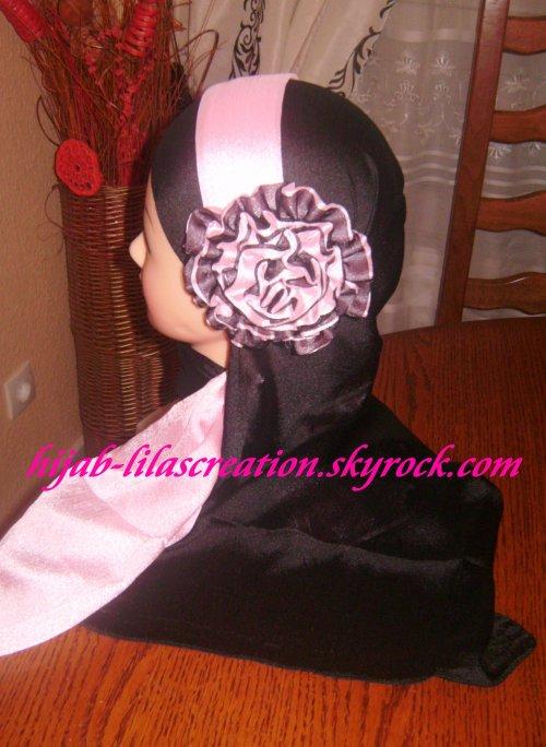 voile noir rose