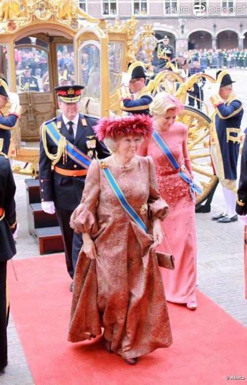 La reine Beatrix et Maxima ..