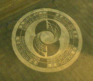Etude d'un crop circle en référence au calendrier Maya
