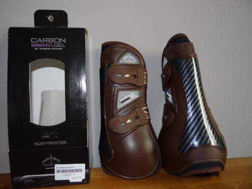 Protections Veredus avant, carbon gel marron