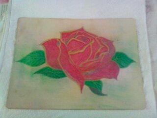 5em tattoo sur fausse peau , une rose...