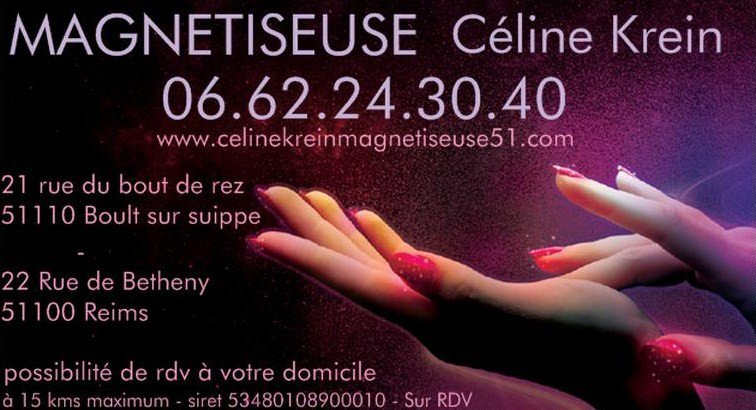 Céline Krein Magnétiseuse Proche de Reims 51