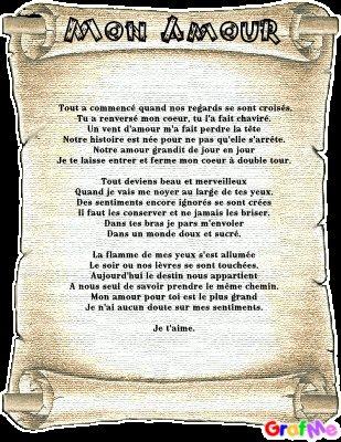 Poème Pour La Femme De Ma Vie Toute Ce Que Jaime Dans
