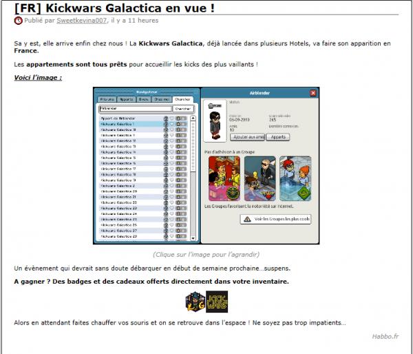 La Kickwars Galactica En Route Pour La France !