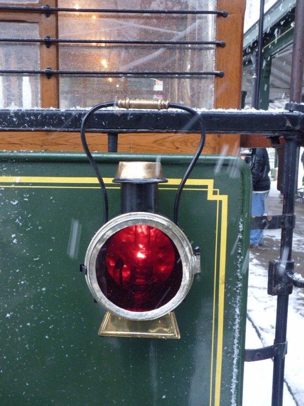Tram dans la neige
