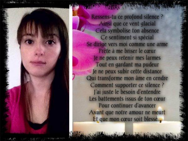 """"""" Le Silence """" ( poème que j'ai écris ^^ ! )"""