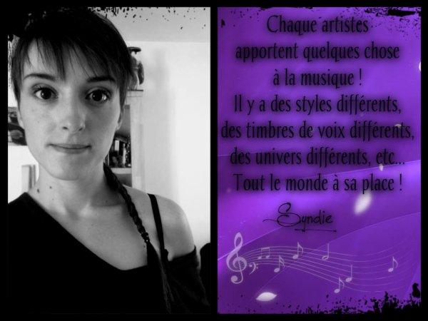 La Musique ! :)