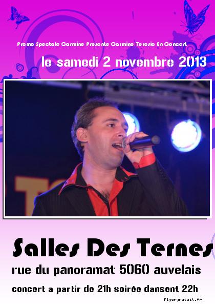 promo spectacle carmine presente carmine teresio en concert le samedi 2 novembre 2013
