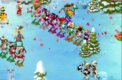 Donjon île de Noël avec la guilde ^^
