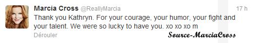 Tweet de Marcia.