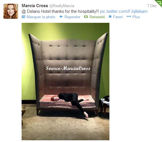 Tweet de Marcia du 7 décembre