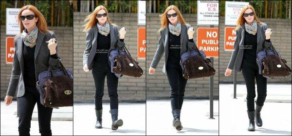 . Photos: 07/04/13 Marcia vue hier matin a Brentwood (Californie)